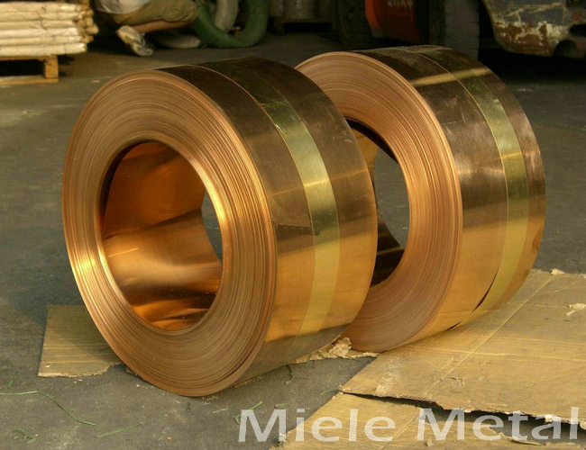 Customized width copper brass alloy coil